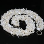 Lovely white shell 10-20mm High-grade Irregular gravel stone beautiful Necklace <b>making</b> 18 inches GE5347
