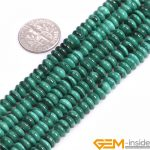 Rondelle Spaces Natural Malachite Beads AA Grade Beads Natural Stone DIY loose Beads For <b>Jewelry</b> <b>Making</b> Strand 15″ wholesale!