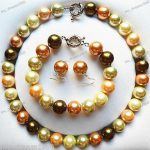 "Women's Wedding Big 14mm Multi-Color South Sea Shell Pearl Necklace 18"" + Bracelet Earrings Set 5.23 Natural silver-<b>jewelry</b>"