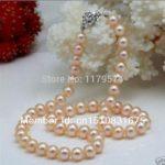 New woman bead <b>jewelry</b> 7-8mm pink shell pearl necklace Hand Made Fashion <b>Jewelry</b> <b>Making</b> Design wholesale and retail 18inch xu62
