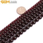 "Gem-inside 4-8mm AAA Grade Natural Stone Beads Round Dark Red Garnet Beads For <b>Jewelry</b> <b>Making</b> Beads Bracelet 15"" DIY Beads"