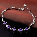 Jemmin Natural Crystal 925 Sterling <b>Silver</b> <b>Bracelets</b> For Women Fine Jewelry Accessory Amethyst Bangles Gift