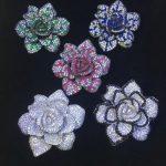 925 <b>sterling</b> <b>silver</b> with cubic zircon camellia flower brooch pins fashion women <b>jewelry</b> free shipping cute green white blue