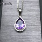 Rosalie,Wholesale 925 Sterling <b>Silver</b> Jewelry Pearl Cut Waterdrop Amethyst Pendant <b>Necklace</b> for Women's Clothing & Accessories
