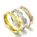 Fashion Rose Gold/silver Plated Cuff Bracelets For Women Men <b>Jewelry</b> Female Charm Bracelet Carter lovebangles H <b>Accessories</b>