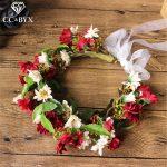 CC <b>Wedding</b> <b>Jewelry</b> Crown Garland Hairbands Hyperbole Style Engagement Hair Accessories For Bridal Seaside Forest Flower mq035