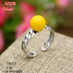 6-9MM S 100% 925 sterling-silver-<b>jewelry</b> Adjustable Ring Blank etting Round Stone <b>Antique</b> Silver Classical platin