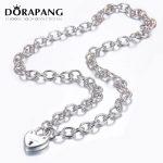 DORAPANG 2018 New Fishiion 100% 925 Sterling <b>Silver</b> Fashion Heart <b>Bracelet</b> Love Lock <b>Bracelets</b> DIY For Women Gift Jewelry