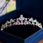 The Clover Full Zircon Tiara Bride Micro Pave CZ Crown Headband Wedding Hair Accessories Diadem <b>Jewelry</b> Tiaras Coroa WIGO0953