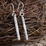 925 Silver Earring 100% S990 Sterling Silver boucle d'oreille Long Drop Earrings for Women <b>Jewelry</b> <b>Making</b> cylinder