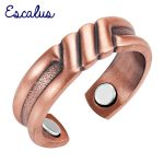 Escalus Ladies <b>Antique</b> Copper Fashionable Magnetic Trendy Ring Resizable Female Magnets Women <b>Jewelry</b> Charm Finger Wear