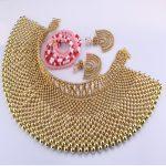 Luxury <b>Jewelry</b> Sets Gold Color Bridal Dubai Gold <b>jewelry</b> Sets For Women 100% <b>Handmade</b> 3 Pics Jewellery Sets Bridal Gift Set 2018