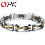 OPK Vintage Link Chain Man Bracelets Fashion Stainless Steel Cool Men <b>Jewelry</b> Personality Summer <b>Accessories</b> DM681