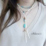 eManco Wholesale Korean Velvet Charming Chain Layering Necklace Beads <b>Making</b> Blue Stone Necklace 2018 New Arrivals <b>Jewelry</b>