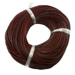 Leather Beading Cord, Cowhide Leather, Necklace <b>Making</b> Material, Chocolate&Black&Peru, Size: about 4mm thick, about 100m/bundle