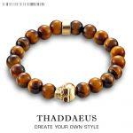 Fashion <b>Accessories</b> <b>Jewelry</b> 8mm Tiger's Eye Bead Skull Skeleton 925 Silver Charm Stretch Ts Bracelet Gift For Men Women