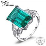 JewelryPalace Luxury 5.9ct Created Emerald Cocktail Ring Genuine 925 Sterling <b>Silver</b> <b>Jewelry</b> Wedding Bands Rings For Women Gift