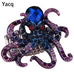 YACQ Octopus Stretch Ring Scarf Clasp Buckle <b>Antique</b> Gold Silver Color Animal Crystal <b>Jewelry</b> Gifts Women Her Dropshipping