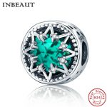 INBEAUT 100% Authentic 925 Sterling Silver White Zircon Magic Light Blue Glass Beads Charm fit Pandora Bracelet <b>Jewelry</b> <b>Making</b>