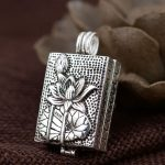 FNJ 925 <b>Silver</b> Gawu Box Pendant for <b>Jewelry</b> Making Lotus and Fish 100% Original Pure Thail S925 Sterling <b>Silver</b> Pendants Women