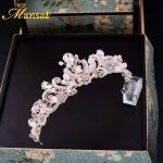 Gorgeous Pink Crystal Princess Tiara Water Drop Rhinestone Crown For Women Wedding Veil Hair <b>Jewelry</b> Girls Hair Accessory HG217
