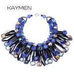 Unique Design on Aliexpress Hyperbole Crystal Strands Statement Torques Necklace for <b>Wedding</b> & Women Choker Party Necklace