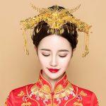 Phoenix Headpiece <b>Jewelry</b> Set Chinese Bridal Wedding Headdress Ornament Ancient Hair Sticks Comb Women Costume Headband <b>Handmade</b>