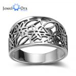 Flower Pattern Hollow Out <b>Fashion</b> Solid 925 Sterling Silver <b>Jewelry</b> Women Rings For Party (JewelOra RI102353 )