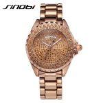 SINOBI <b>Silver</b> Woman Watches Rhinestone Diamond Watches For Women High Quality Fashion Female Watch Vogue Quartz Lady Wristwatch