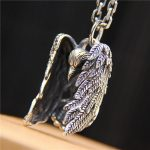 Fashion <b>Jewelry</b> Evil Psychic Crow S925 Sterling <b>Silver</b> Men And Women Retro Thai <b>Silver</b> Feather Bird Pendant