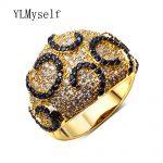 High quality designer rings <b>jewelry</b> Black CZ Crystal Gold color <b>Jewelry</b> wholesale <b>supplies</b> trendy <b>jewelries</b> 2018 new finger ring