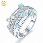 Hutang Stone <b>Jewelry</b> Natural Gemstone Opal Solid 925 <b>Sterling</b> <b>Silver</b> Engagement Rings Fine Fashion <b>Jewelry</b> For Women Gift New