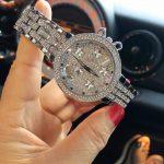 Luxury Brand <b>Silver</b> Waterproof Watch Women's <b>Bracelet</b> Watch 2018 Fashion Ladies Rhinestone Wristwatch Lady Relogio Feminino