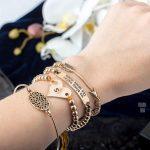 eManco Stylish Simple Hollow Oval Heart Bracelets Multi-layers Charms Bracelets & Bangles for Women Beads Ancient Brand <b>Jewelry</b>