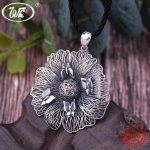 WK 925 Sterling <b>Silver</b> Woven Filaments Retro Vintage Butterfly With Big Round Flower Pendant Statement <b>Necklace</b> Women 4W NZ084