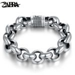 LT Real Pure 925 Sterling Silver Chain Thick Bracelet For Mens Thai Silver <b>Handmade</b> Punk Bracelets <b>Jewelry</b> For Male