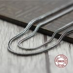 S925 Sterling <b>Silver</b> <b>Necklace</b> Personality classics Simple and generous retro series Snake bone shape Send a gift to love