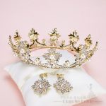 T3 Luxury Gold Tiara Big Crystal Women Crown+earring pearl <b>jewelry</b> Baroque corona marriage hairwear <b>Wedding</b> Accessories xingyao