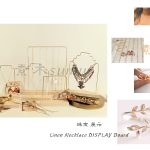 Solid Wood <b>Jewelry</b> Display Frame Earrings <b>Necklace</b> Pendant Bracelets Display Holder Metal Stick Earrings Stand