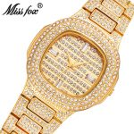 MISSFOX Miss Fox Casual Quartz Watch Women Gold Water Resistant Wrist Watches For Women <b>Silver</b> Ladies Watch <b>Bracelet</b> Clock