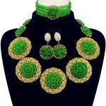 Nigerian Wedding African Beads <b>Jewelry</b> Sets Du Bai <b>Handmade</b> Acrylic Beaded Earrings Necklace Bridal Chain Women Dress Set