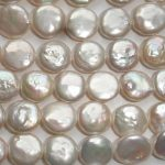 Classic Loose Beads 10-12mm Coin Freshwater White Pearl <b>Jewelry</b> <b>Supply</b>