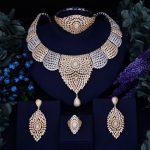 Godki Luxury Women Nigerian Wedding Naija Bride Cubic Zirconia <b>Necklace</b> Ring Bangle Earring Dubai <b>Jewelry</b> Set