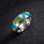 2018 Summer Rings for Woman Colorful Sunflower Enamel Ring 925 Sterling Silver Ring Party Fashion <b>Jewelry</b> <b>HANDMADE</b>