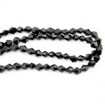 Free Shipping Black 4mm Bicone Crystal Beads Charm Glass Loose Spacer For DIY <b>Jewelry</b> <b>Making</b>