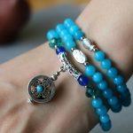 NEW Amazonite Chalcedony Accessory Trendy Diy Stone 6mm Bodhi Pendant Female Bracelets Stone Hand Made <b>Jewelry</b> <b>Making</b> Design