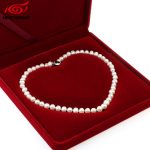 Real Freshwater Natural Pearl Necklace Women Fine Necklace <b>Jewelry</b> Pearl 925 Sterling Silver Necklace Cultured Genuine Pearl