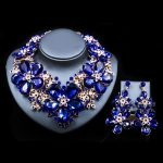 LAN PALACE parure bijoux femme wedding decoration <b>jewelry</b> set Austrian crystal <b>necklace</b> and earrings free shipping