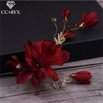 CC <b>Jewelry</b> Hairpins Hairclips Hair Ornaments Wedding Decorations Wedding Hair Accessories <b>Handmade</b> Flower For Women Fashion 1047