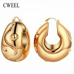 CWEEL Women Big Hoop Earrings for Bridal <b>Fashion</b> Wedding Classic Trendy Casual Bohemian Gold Color Vintage Arab Nigerian <b>Jewelry</b>